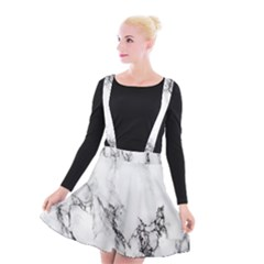 Marble Pattern Suspender Skater Skirt by BangZart