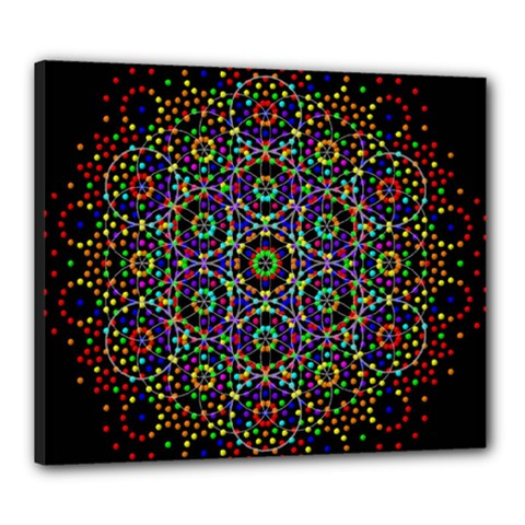 The Flower Of Life Canvas 24  X 20  by BangZart