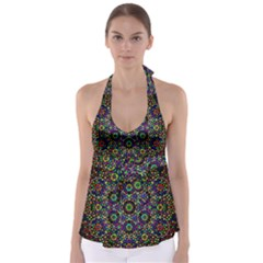 The Flower Of Life Babydoll Tankini Top