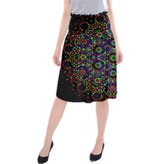 The Flower Of Life Midi Beach Skirt