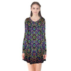 The Flower Of Life Flare Dress