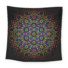The Flower Of Life Square Tapestry (large)