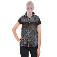 The Flower Of Life Women s Button Up Puffer Vest