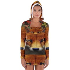 Fox Long Sleeve Hooded T Shirt