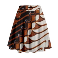 Traditional Batik Sarong High Waist Skirt by BangZart