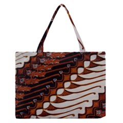 Traditional Batik Sarong Medium Zipper Tote Bag