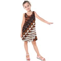 Traditional Batik Sarong Kids  Sleeveless Dress
