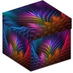 Colored Rays Symmetry Feather Art Storage Stool 12