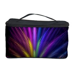 Colored Rays Symmetry Feather Art Cosmetic Storage Case