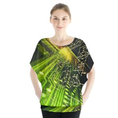 Electronics Machine Technology Circuit Electronic Computer Technics Detail Psychedelic Abstract Patt Blouse