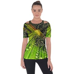 Electronics Machine Technology Circuit Electronic Computer Technics Detail Psychedelic Abstract Patt Short Sleeve Top