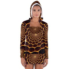 Honeycomb Art Long Sleeve Hooded T Shirt