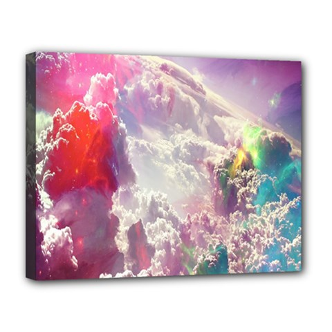 Clouds Multicolor Fantasy Art Skies Canvas 14  X 11  by BangZart