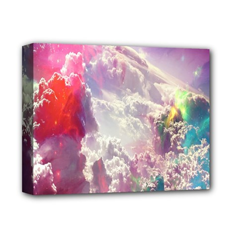 Clouds Multicolor Fantasy Art Skies Deluxe Canvas 14  X 11  by BangZart