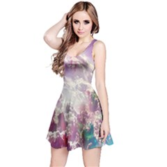 Clouds Multicolor Fantasy Art Skies Reversible Sleeveless Dress