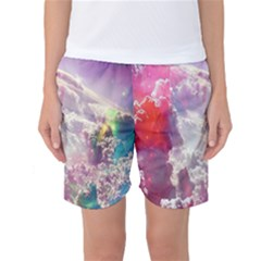 Clouds Multicolor Fantasy Art Skies Women s Basketball Shorts
