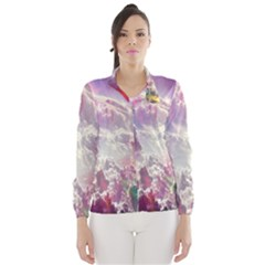 Clouds Multicolor Fantasy Art Skies Wind Breaker (women)