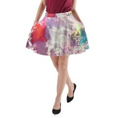 Clouds Multicolor Fantasy Art Skies A Line Pocket Skirt