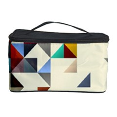 Retro Pattern Of Geometric Shapes Cosmetic Storage Case