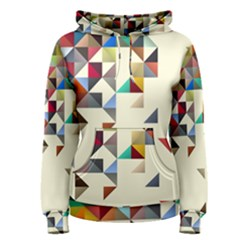 Retro Pattern Of Geometric Shapes Women s Pullover Hoodie