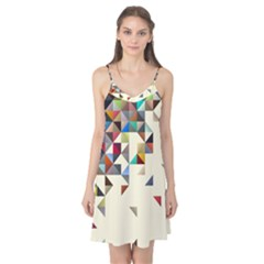 Retro Pattern Of Geometric Shapes Camis Nightgown