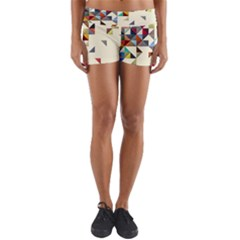 Retro Pattern Of Geometric Shapes Yoga Shorts