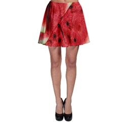 Fresh Watermelon Slices Texture Skater Skirt