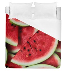 Fresh Watermelon Slices Texture Duvet Cover (queen Size)
