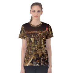 New York City At Night Future City Night Women s Cotton Tee