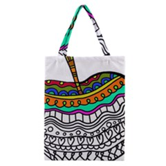 Abstract Apple Art Colorful Classic Tote Bag by Nexatart