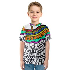 Abstract Apple Art Colorful Kids  Sport Mesh Tee