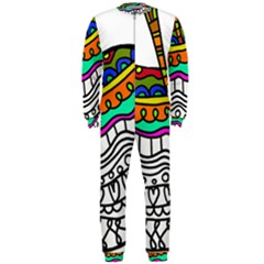 Abstract Apple Art Colorful Onepiece Jumpsuit (men)