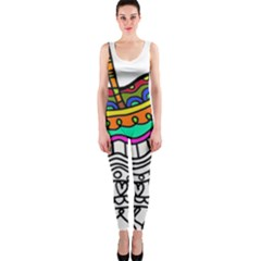 Abstract Apple Art Colorful Onepiece Catsuit