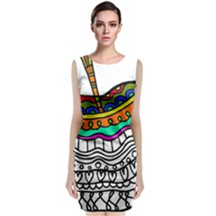 Abstract Apple Art Colorful Classic Sleeveless Midi Dress
