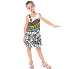 Abstract Apple Art Colorful Kids  Sleeveless Dress