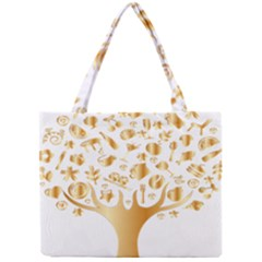 Abstract Book Floral Food Icons Mini Tote Bag