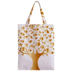 Abstract Book Floral Food Icons Zipper Classic Tote Bag
