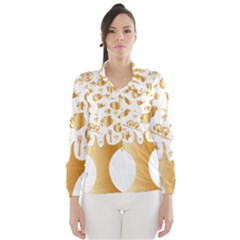 Abstract Book Floral Food Icons Wind Breaker (women)
