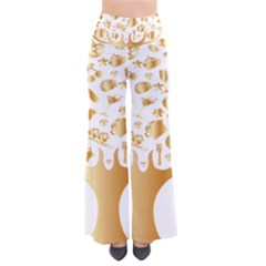 Abstract Book Floral Food Icons Pants