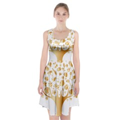 Abstract Book Floral Food Icons Racerback Midi Dress