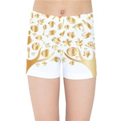Abstract Book Floral Food Icons Kids Sports Shorts