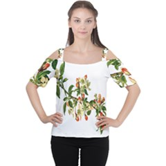 Apple Branch Deciduous Fruit Cutout Shoulder Tee