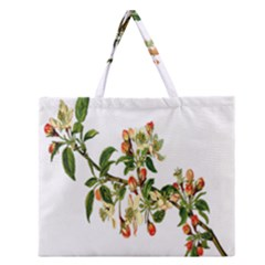 Apple Branch Deciduous Fruit Zipper Large Tote Bag