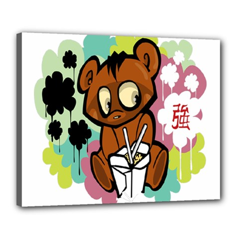Bear Cute Baby Cartoon Chinese Canvas 20  X 16