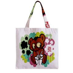 Bear Cute Baby Cartoon Chinese Grocery Tote Bag