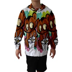 Bear Cute Baby Cartoon Chinese Hooded Wind Breaker (kids)