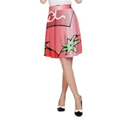 Beverage Can Drink Juice Tomato A Line Skirt