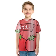 Beverage Can Drink Juice Tomato Kids  Sport Mesh Tee