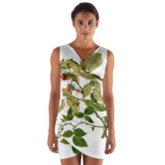 Berries Berry Food Fruit Herbal Wrap Front Bodycon Dress