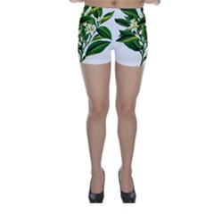 Bitter Branch Citrus Edible Floral Skinny Shorts